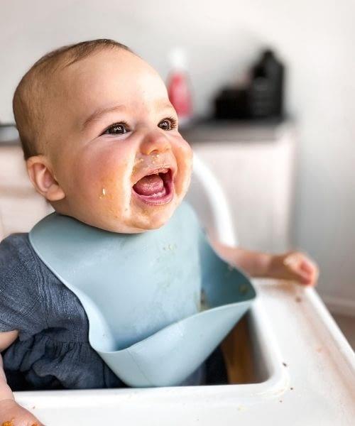 Baby Led Weaning, Baby Feeding, Baby Highchair, Silicone Bib, Silicone Baby Bib