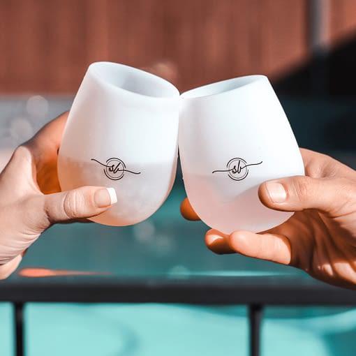 Silicone Wine Glass, Poolside glasses,